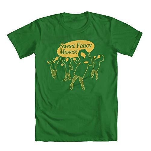 GEEK TEEZ Sweet Fancy Moses 90s Sitcom Men's T-Shirt Kelly Green Medium (Seinfeld Elaine)