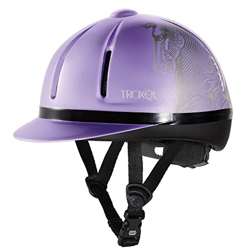 Troxel Legacy ♦ All Purpose Western English Schooling Helmet ♦ SEI/ASTM Safety Certification Styles (Purple Antiquus, Medium) (Troxel Helmet Schooling Spirit)