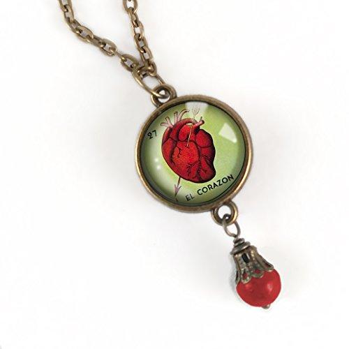Loteria El Corazon Pendant Necklace