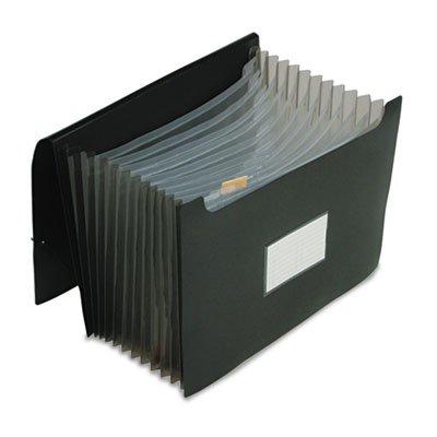 Jumbo 13 Pocket File, 12 Inch Expansion, Poly, Letter, Black, Sold as 1 (Jumbo 13 Pocket)
