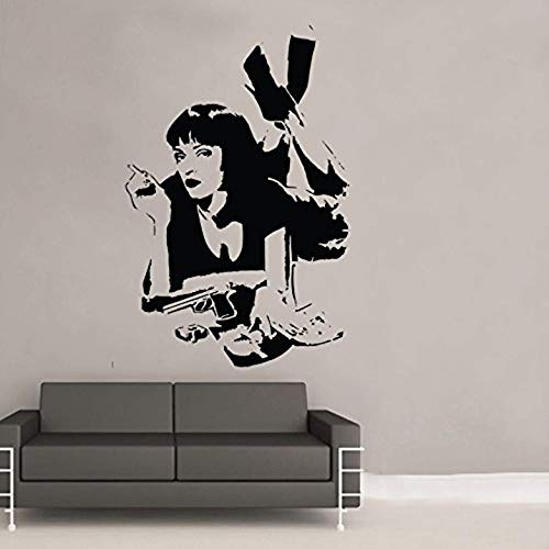 Wallace Glass Print - FSDS Wall Vinyl Stickers - Pulp Fiction Mia Wallace Wall Art Sticker - Home Decoration Wall Decals