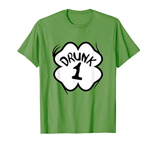 Drunk 1 St Pattys Day Shirt Drinking Team Group Matching