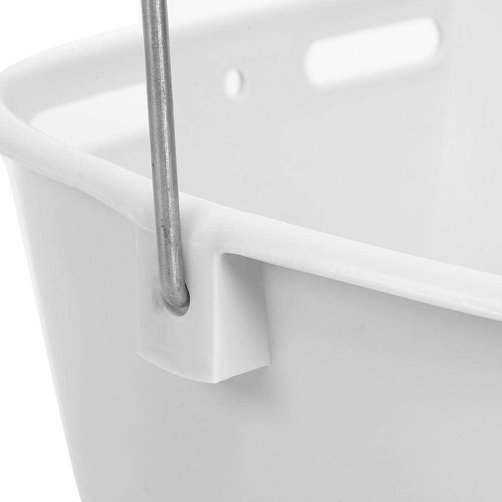 Atyhao Milk Bucket, HL-MP70 White Plastic Multiple Nipples High Capacity Lamb Calf Milk Feed Bucket for Feed Orphaned Lamb Pup(Four Nipple) Two Nipple