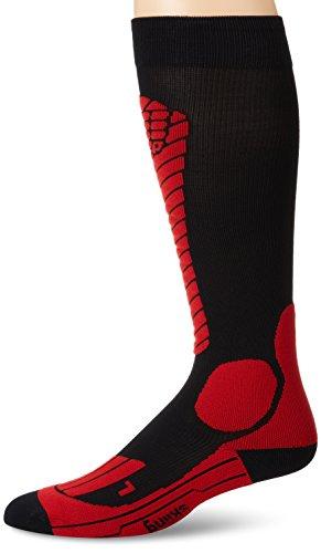 (CEP Men's Progressive+ Race Ski Socks, Size V (Calf 18-20-Inch), Black/Red)