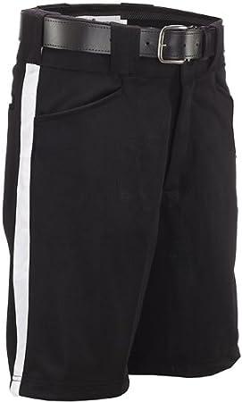 Smitty Football Officials Shorts - Black / White Stripe