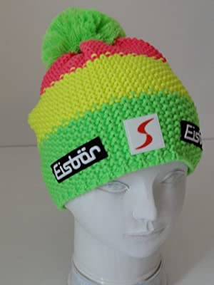 Eisb/är/ /Gorro para Ni/ños Star Pompom M/Ü SP Color Verde//Amarillo//Rosa