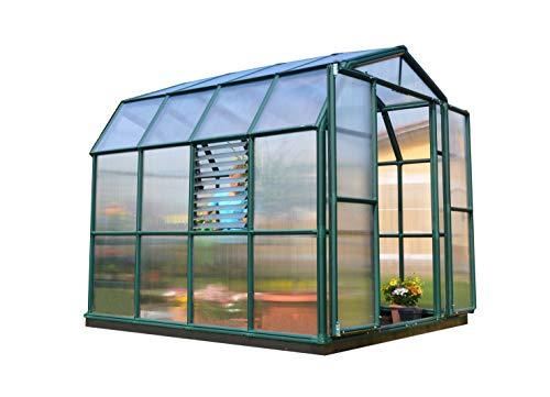 Rion HG7308 Prestige Polycarbonate Greenhouse, 8' L x 8' W, Green