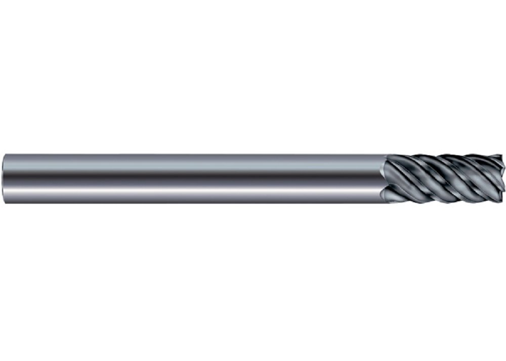 SGS 36142 57 Power-Carb High Performance End Mill, Aluminum Titanium Nitride Coating, 3/8'' Cutting Diameter, 13/16'' Cutting Length, 3/8'' Shank Diameter, 4'' Length