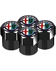 4 stuks Auto-Styling Auto Wiel Ventiel Tyre Caps Case Voor Alfa Romeo 159 147 156 166 Giulietta Giulia Mito Spider Auto Accessoires
