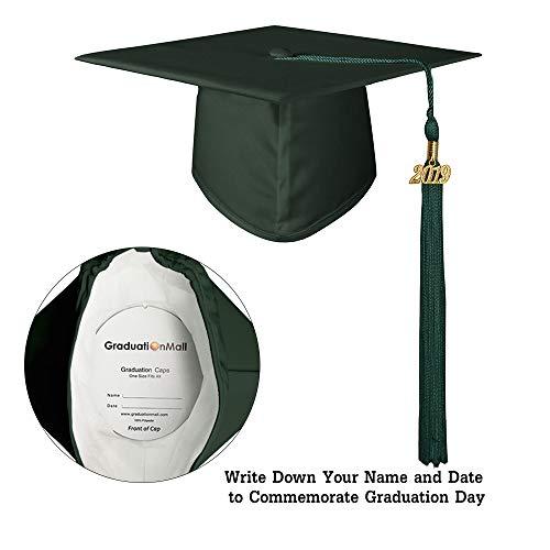 4635f18643d GraduationMall Matte Graduation Gown Cap Tassel Set 2019 for High School  and Bachelor