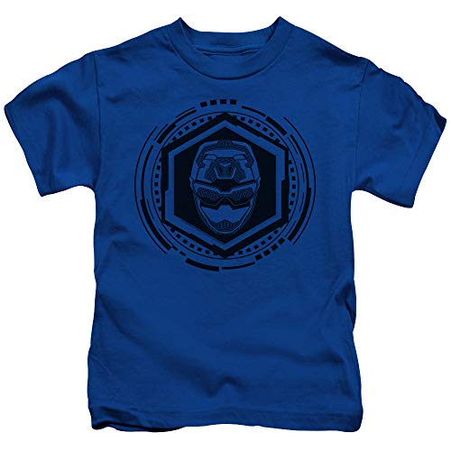 Trevco Sportswear PWR2411-KT-2 Power Rangers & Blue Ranger Print Juvenile Short Sleeve T-Shirt44; Royal Blue - Medium 5 & 6
