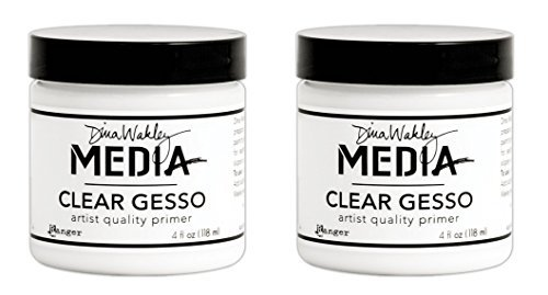 Dina Wakley Media Clear Gesso 4 oz Jar (2 Pack)