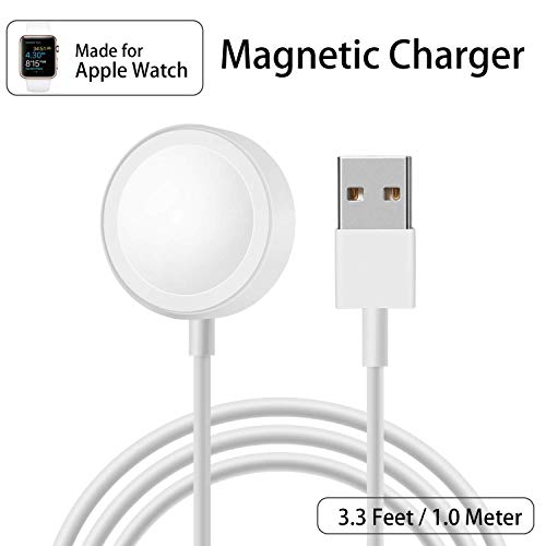 Happigo Watch Charger, Magnetic Wireless Portable Charger Pad 3.3 ft/1.0m Charging Cable Cord Compatible Apple Watch/iWatch Series 3 2 All 38mm 42mm