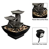 Pure Garden 50-LG5064 Tabletop Water Fountain-3