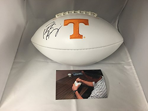 Peyton Manning Autographed Signed Tennessee Volunteers Logo Football Side Manning #ed Hologram - John Elway Autographed Football
