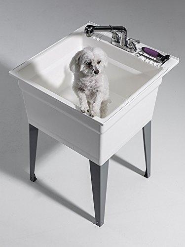 CASHEL 1960-32-21 Sink - Fully Loaded Sink Kit, Steel Leg, White by Cashel (Image #3)