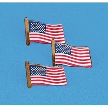Usa Flag Clutch Pins Dozen