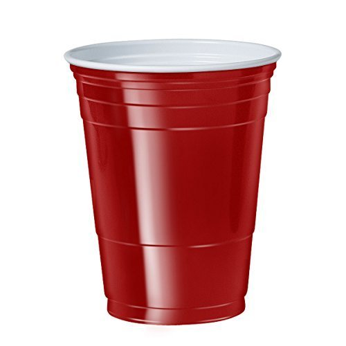 Case Solo Plastic - Red Solo Cup Cold Plastic Party Cups 16 Ounce 1000 Cups (20 Sleeves of 50)