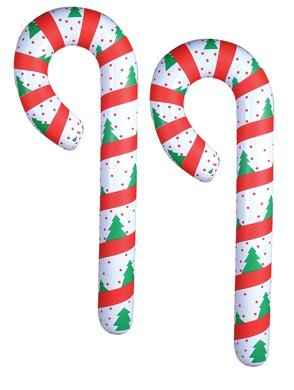 2 JUMBO Inflatable CANDY CANES/44