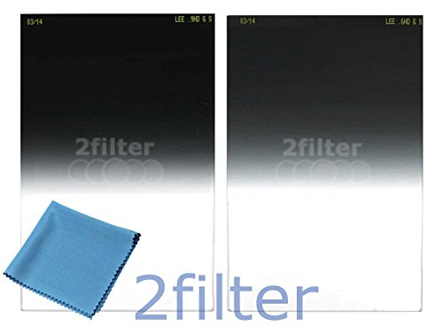 Lee Filters Soft Edge Filter Twin Pack - Includes Lee 4x6 Graduated ND 0.6 Soft Edge and Lee 4x6 Graduated ND 0.9 Soft Edge Filters, included 6x7 Wyndham Digital Microfiber cloth! by Lee Filters