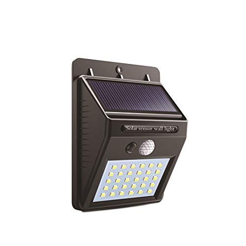 ILYPRO - Luz solar para exteriores (20 ledes, impermeable, panel solar con 120°, sensor de movimiento ...