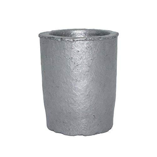 Carburo de silicio Grafito crisoles Copa horno fundición fundición refinación fundición crisol para oro plata Cobre latón metales de aluminio (7 fl oz): ...