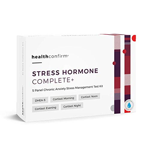 HealthConfirm Stress Hormone Complete Full Day Adrenal Stress Balance  Saliva Collection Test Kit,