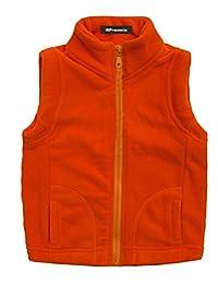 MFrannie Girls Boys Spring Pure Bright Colors Zip Up Polar Fleece Vest