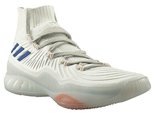 Adidas Uomo pazzo esplosivo 2017 pk, bianco / arancio, bianco / arancio