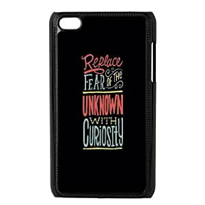 iPod Touch 4 Case Black Replace Fear T4L3XV