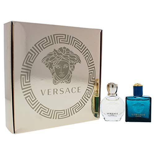 Versace Versace Eros By Versace for Unisex - 2 Pc Gift Set 5ml Pour Femme Edp Splash, 5ml Pour Homme Edt Splash, 2 Count