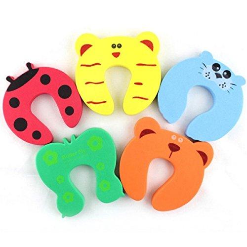 Door Stopper Holder Lock Color Random MTS 5pcs Baby Safety Product Cartoon Animal