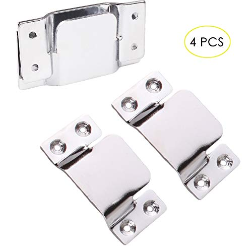 - Flush Mount Bracket, Tiberham 4 Pcs Stainless Steel Sectional Sofa Interlocking Clip Furniture Connector, Heavy Duty Connecting Clip Bracket for Large Picture Display Headboard Wall Mount Hardware