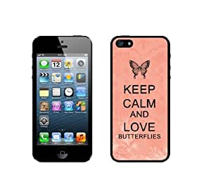 Keep Calm And Love Butterflies - Coral Floral - Protective Designer BLACK Case - Fits HTC One X / One X+
