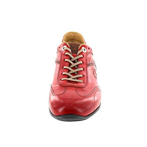 La Martina Herren Sneaker Rot (cuero Rosso)