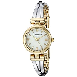 Anne Klein Women's AK/1171MPTT Two-Tone Bangle Watch