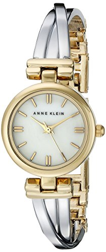 Anne Klein Gold Bangle Bracelet - Anne Klein Women's AK/1171MPTT Two-Tone Bangle Watch