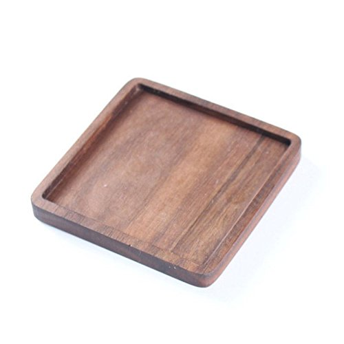 (Wood Drink Coaster Tea Coffee Cup Mat Table Heat Resistant Round Drink Mats T7A2)