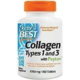 Pastillas De Colageno Hidrolizado Con Vitamina C - 180 Capsulas De Colageno Natural Para La Cara Y Piel - Ayuda a Eliminar El Dolor De Articulaciones Y a ...