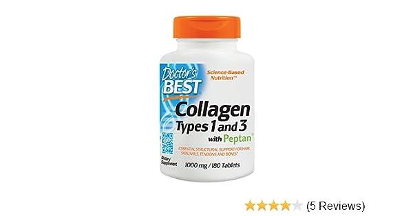 Amazon.com: Pastillas De Colageno Hidrolizado Con Vitamina C - 180 Capsulas De Colageno Natural Para La Cara Y Piel - Ayuda a Eliminar El Dolor De ...