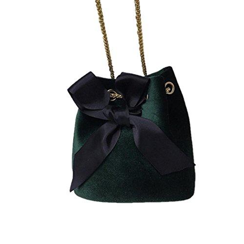 ESAILQ Bolso de Hombro Bolsa De Mochila Multiusos Compras Para Movil Mujer Niñas R Verde