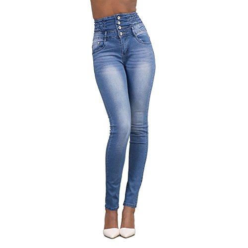 Collant Bleu Femme Slim Printemps Fit Legging Clair Crayon Pantalon Automne Haute Taille Jeans Dihope Denim en HUqW6IHn
