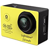 YWNC Action Camera Wifi 1080P HD Sports Action Camera Waterproof DV 170 Wide-Angle 2.0 LCD Screen Portable Aerial Photography