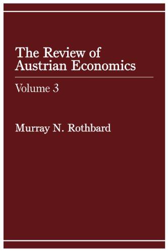 Review of Austrian Economics, Volume - Hut H