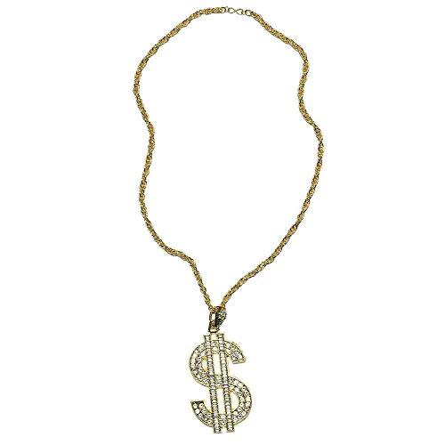 Bristol Novelty BA611 Superior Metal Dollar Necklace, Mens, One Size ()