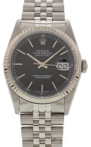 Wind Rolex Watch (Rolex Datejust automatic-self-wind mens Watch 16234 (Certified)