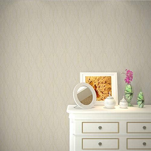 壁紙 レンガ 防音シート 防水 壁紙 断熱 DIYクッション シール シート立体 壁用 壁紙 はがせ 波状曲線ストライプ不織布壁紙リビングルームのベッドルームの壁紙装飾壁装飾材 (Color : D)