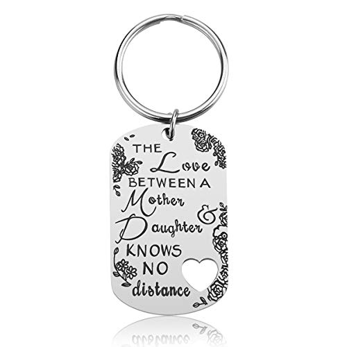Mother's Day Gifts for Mom from Daughter - Mother Daughter Gifts, The Love Between A Mother and Daughter Knows No Distance Keychain, Mom Jewelry for Mother (Mother)