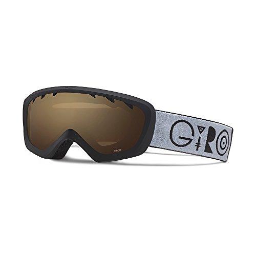 Giro Chico Kids Snow Goggles Black Geo - Amber Rose (Amber Rose Gläser)