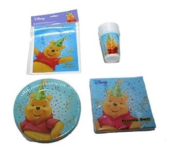 Buon Compleanno Winnie The Pooh Set Partito Amazon It Giochi E